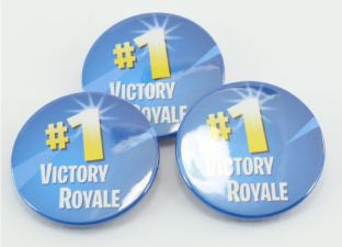 PACK OF 3  Victory Royale Fortnite Badges